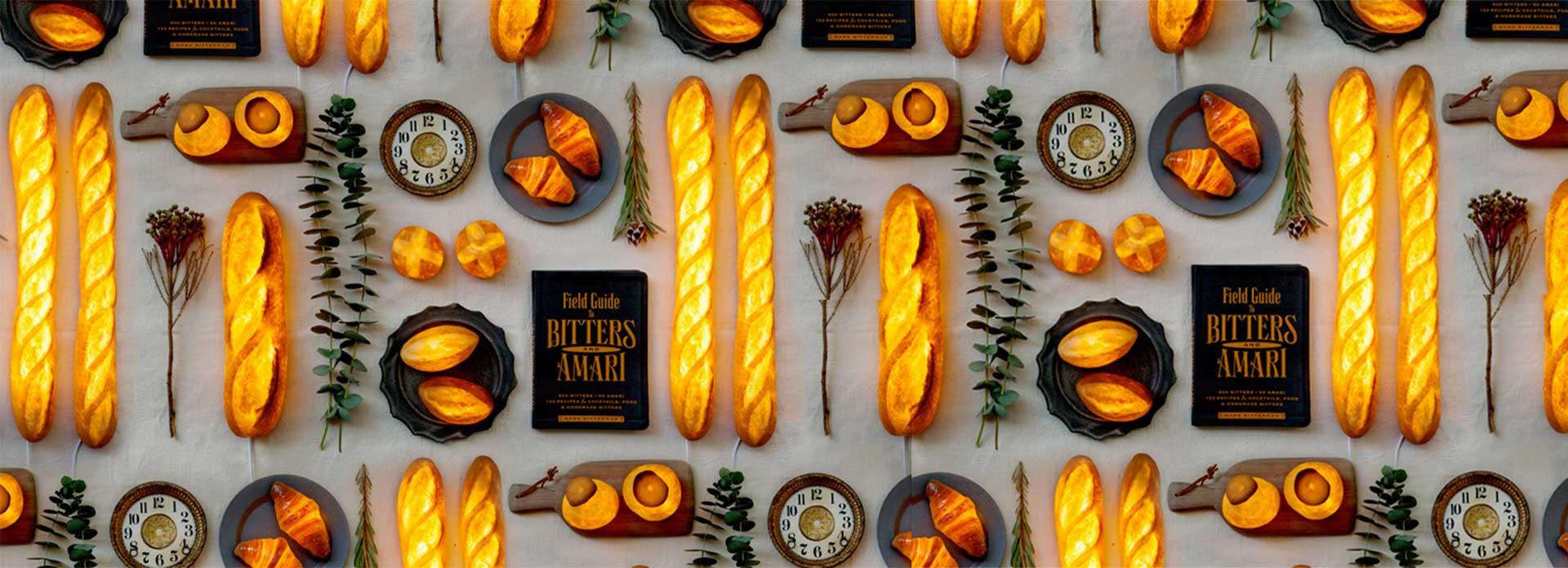 وکیکو موریتا هنرمندی ژاپنی است که در نمایشگاه امسال Maison & Objet از محصول خلاقانهای رونمایی کرده: چراغ دستسازی که از نان ساخته شده است.