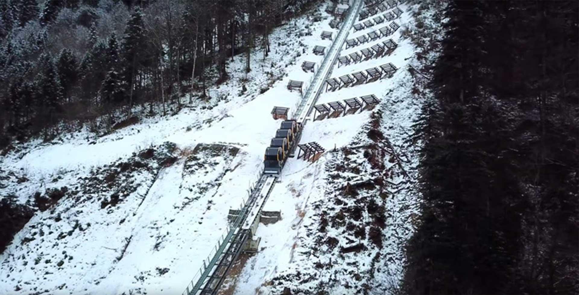 پرشیبترین قطار کابلی جهان