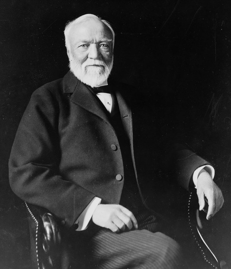 Andrew-Carnegie مشهور در حوزه کسب و کار