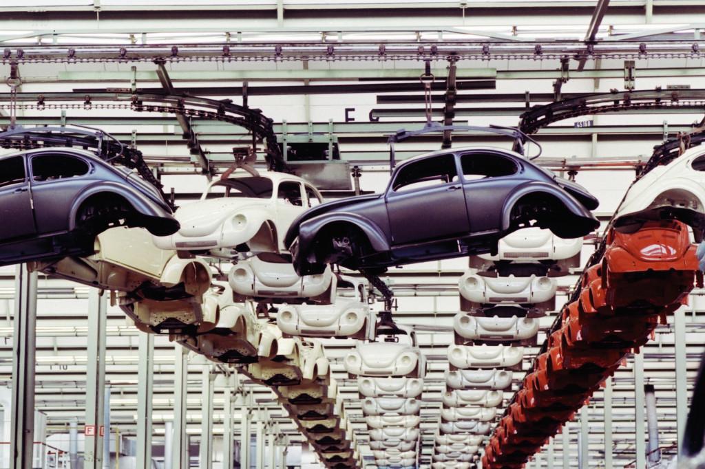 تولید بیتل در کارخانهی پوئبلا، مکزیک. با کسب اجازه از فولکس واگن