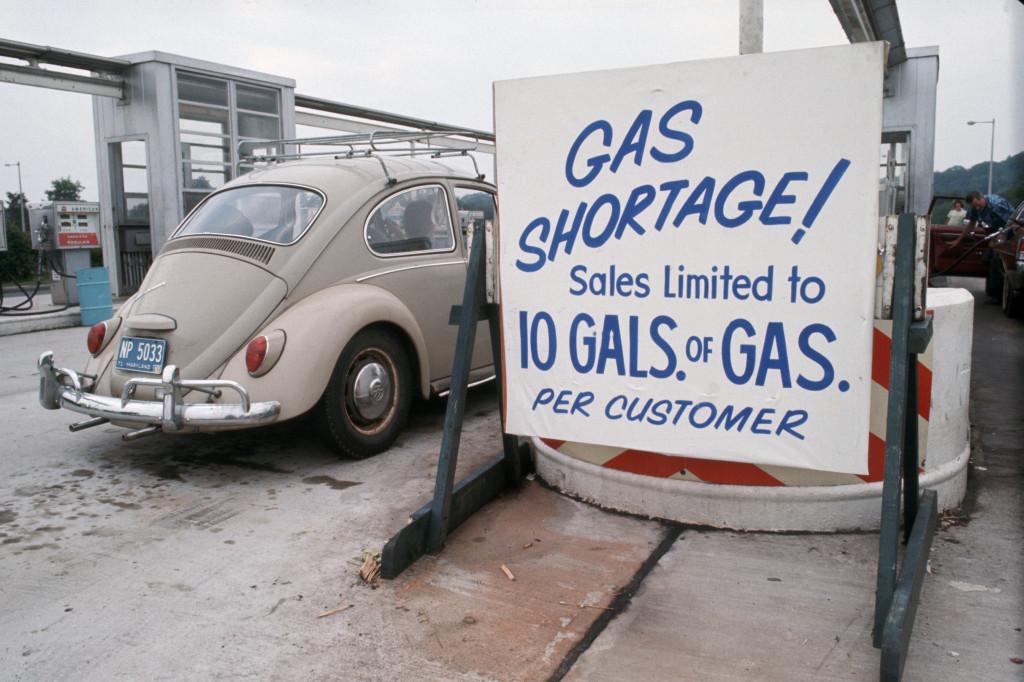 بیتل در پمپ بنزین