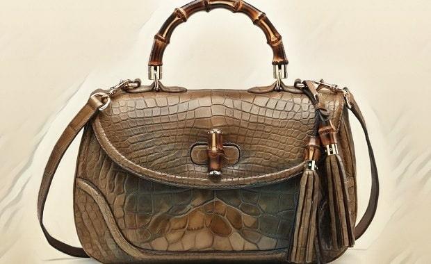کیف بند بلند گوچیبا دستگیره بامبو