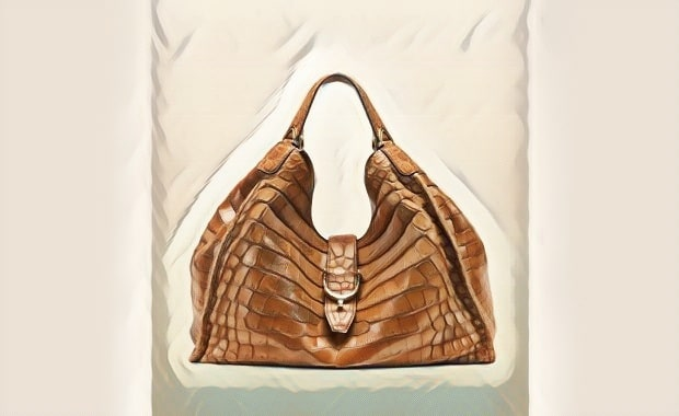 کیف رو دوشی زنانه تمساح سیاه و سفید
