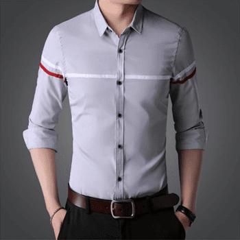 پیراهن مردانه خاکستری