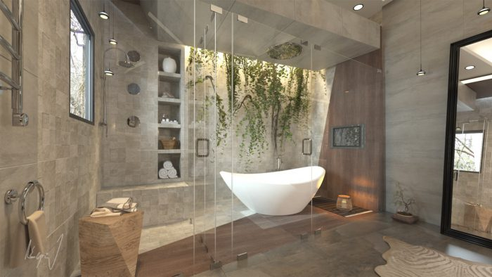 حمام لاکچری بزرگ