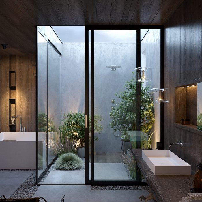 حمام لوکس مدرن