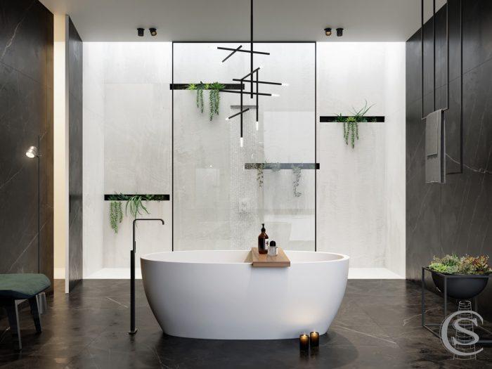 حمام شیشه ای لوکس