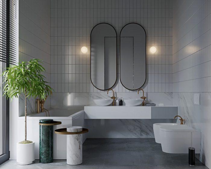 دکوراسیون داخلی حمام لاکچری خانه