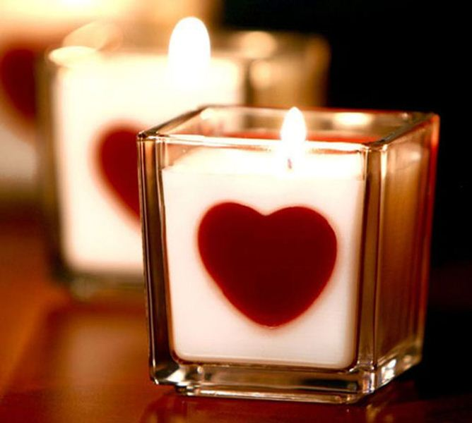 شمع قلبی برای ولنتاین